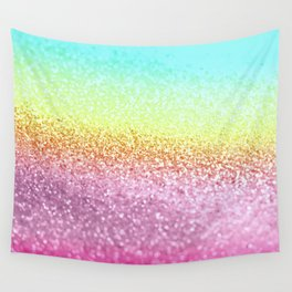 UNICORN GLITTER Wall Tapestry