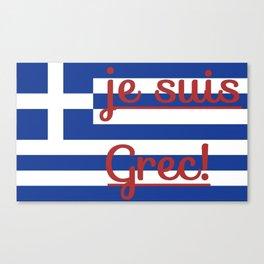 je suis Grec Canvas Print