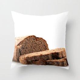 Sliced Black Bread Throw Pillow