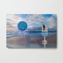 BEACH FANTA-SEA Metal Print