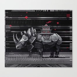 elegant rhinoceros Canvas Print