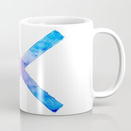 SUICIDE SQUAD HARLEY QUINN INSPIRED RED AND BLUE CROSS. Coffee Mug