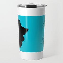 Fro African W&B Travel Mug