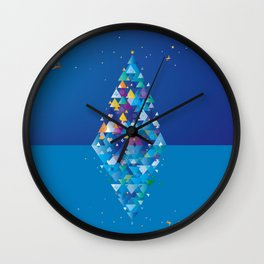 christmas Image 1 from 2 Wall Clock