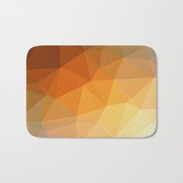 Shades Of Orange Triangle Abstract Bath Mat