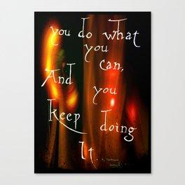 Do It Canvas Print