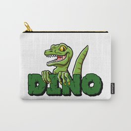 Cute dinosaur cartoon and lettering Carry-All Pouch