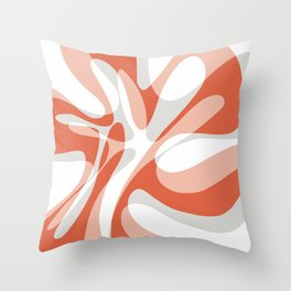 Coral Wave Throw Pillow