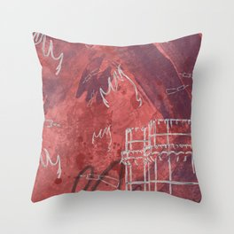 A la luna de Valencia  - Red Throw Pillow