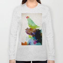Bird standing on a tree Long Sleeve T-shirt
