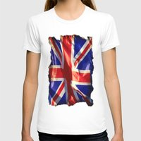 england T-shirts featuring England Flag by Fine2art