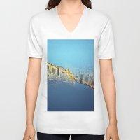 edinburgh V-neck T-shirts featuring Edinburgh Castle  by Richard PJ Lambert