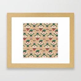 Santa's Elven Slaves II (Patterns Please) Framed Art Print