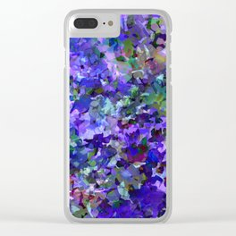 Deep Violet Woods Clear iPhone Case