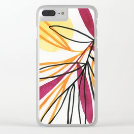 Sun and leaves Clear iPhone Case