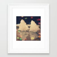reassurance Framed Art Prints featuring Winter by Magdalena Hristova