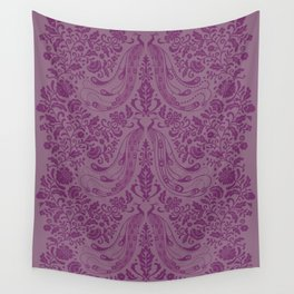 Purple Peacock Print Wall Tapestry