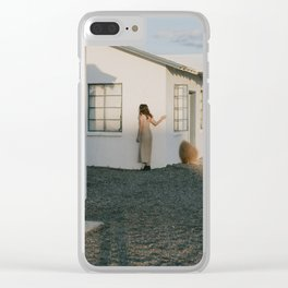 Don't Blend In // Roy's Motel, Route 66 California Clear iPhone Case