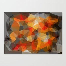 red orange black and white abstract background Canvas Print