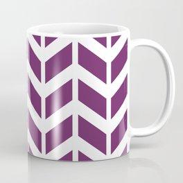 Purple and white chevron pattern Coffee Mug