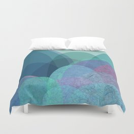 It is not the mountain we conquer but ourselves Duvet Cover