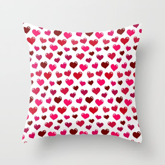 Floating Hearts Throw Pillow