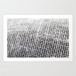 rough gray linen Art Print