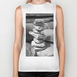 Stacked Rock Pile Biker Tank