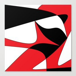 Red, Black and White Pop Art Canvas Print