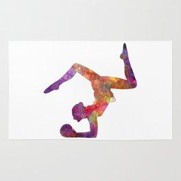 Rhythmoc Gymnastics woman silhouette Rug