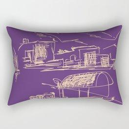 bangkok river boat travel poster Rectangular Pillow