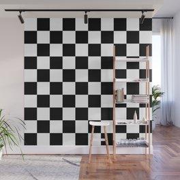 Black White Checker Wall Mural