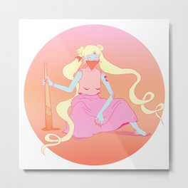 Sukeban Moon Metal Print
