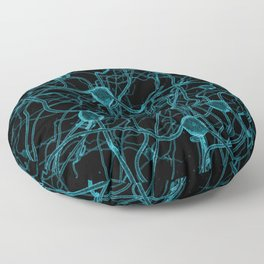 You Get on My Nerves! / 3D render of nerve cells Floor Pillow
