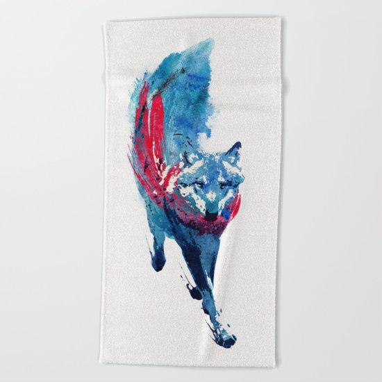 Lupus Lupus Beach Towel