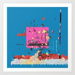 Wild with a Side of Flight Contemporary Abstract No. 7 Art Print