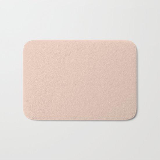 Solid Vintage Rose Pink Bath Mat