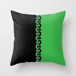 Green & Black  / Two Tone Modern Throw Pillow