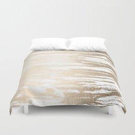 White Gold Sands Paintbrush Duvet Cover