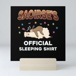 Saoirse Name Gift Sleeping Shirt Sleep Napping Mini Art Print