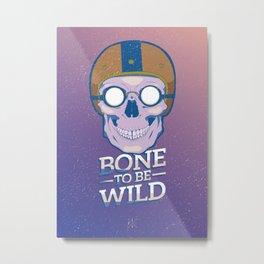 Skullture: Bone to be Wild Metal Print