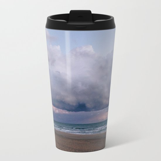 Purple Clouds Metal Travel Mug
