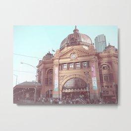 Flinders Street Station, Melbourne, Australia Metal Print
