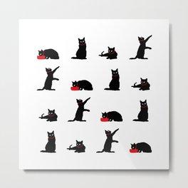 Cats-Large-Black&White Metal Print