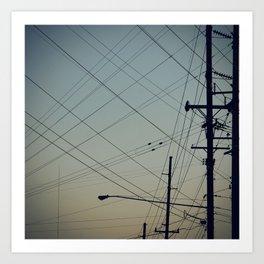 Lines. Art Print