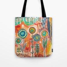 grow bloom - a flower garden Tote Bag