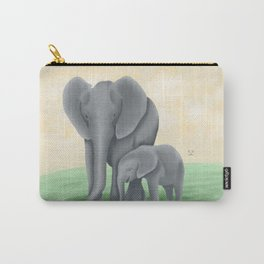 Mama Tembo (Mama Elephant & Baby) Carry-All Pouch