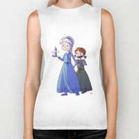 frozen Biker Tanks featuring Frozen by Kaori