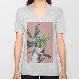 Tropical Girl  2 Unisex V-Neck