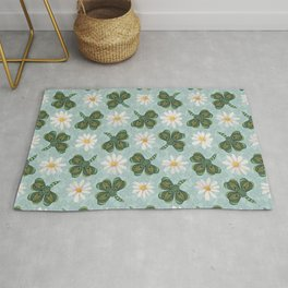 Clovers and Daisies Rug